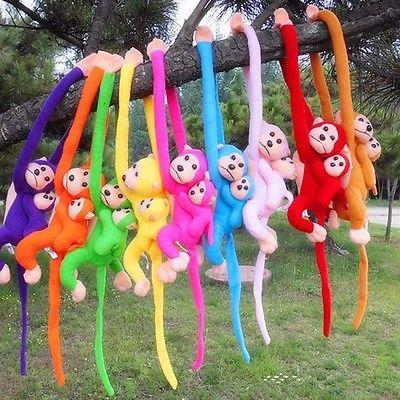 Baby Kids Soft Plush Toys Cute Colorful Long Arm Monkey Stuffed Animal Doll Gift(China (Mainland))