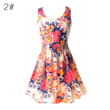 Buy 2017 New Summer Korean Women Vestidos Casual Bohemian Floral Leopard Sleeveless Vest Printed Beach Chiffon Dress for $2.70 in AliExpress store