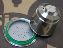 Wholesale Bulk NESPRESSO Machine Compatible Reusable stainless steel metal COFFEE CAPSULES Refillable PODS Roma Ristretto