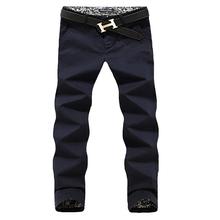 Size 28-42 Men Pants Fit Cotton Casual pants Brand Fashion Men's Trousers 6 Colors Slim Mens Pants Free shipping(China (Mainland))