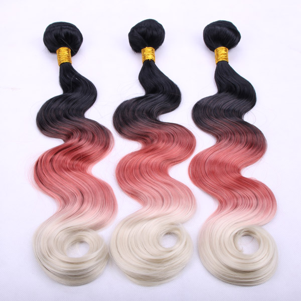 Ombre synthetic hair weave 100g/pc 1bundle sale aliexpress hair extensions ombre hair weave 1B and red body wave synthetic hair(China (Mainland))