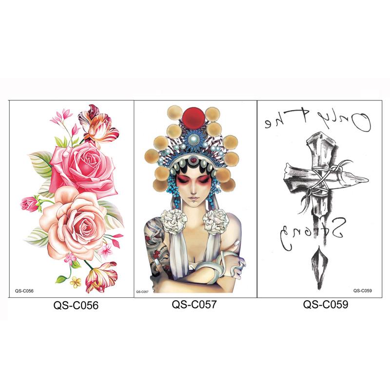 3Sheet Body Art Beauty Trendy Adhesive Henna Tattoos Waterproof Temporary Tattoo Sticker Water Transfer Fake Tattoos Women Arm(China (Mainland))