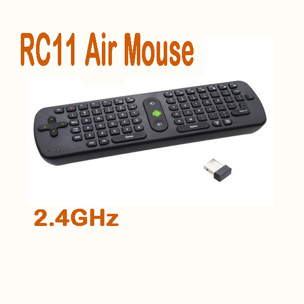 by dhl or ems 10 pieces RC11 mini fly air mouse a RC11 2.4GHz wireless keyboard Google Android Mini PC TV online player box(China (Mainland))