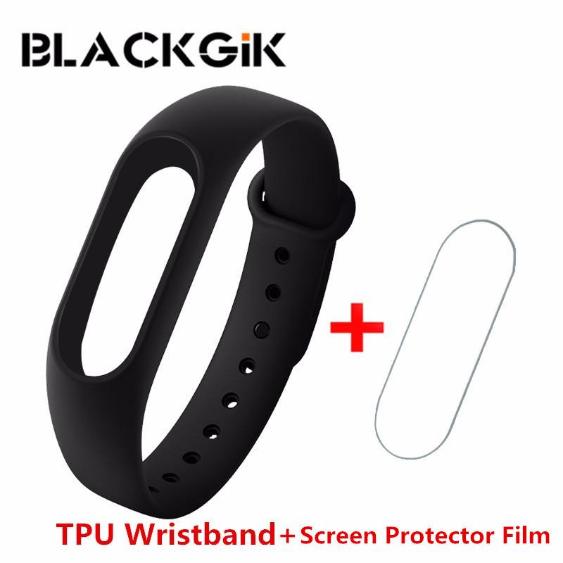 For Xiaomi Band 2 Explosion-proof Film TPU Case Wristband Screen Protector Film and Wrist Strap Silicone Case For Xiaomi Band 2(China (Mainland))