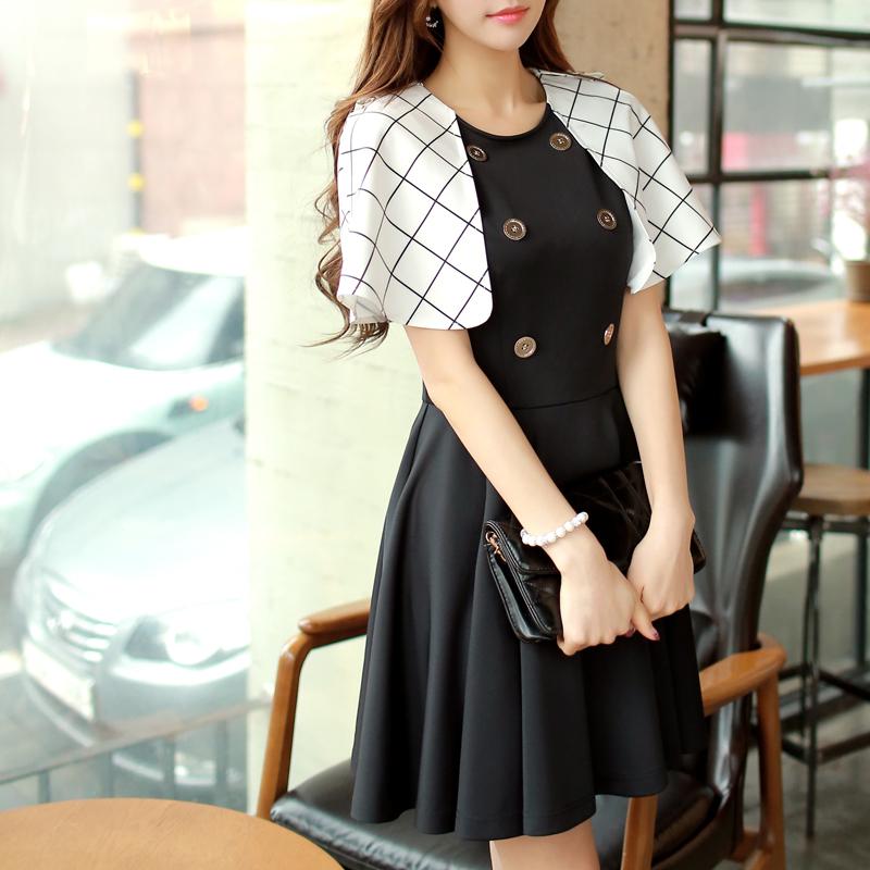 Original New 2015 Brand Womens Party Poncho Dresses Black Plus Size Slim Elegant Vestidos De Fiesta Robe Summer Style WholesaleОдежда и ак�е��уары<br><br><br>Aliexpress