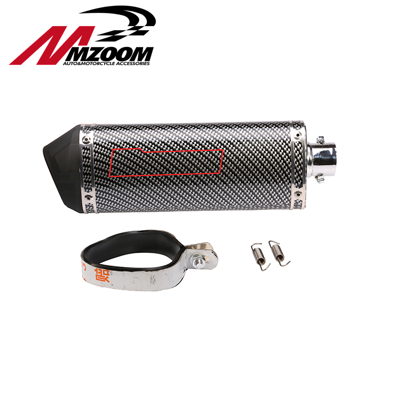 35.5mm Motorcycle Duckbill Cobra Triangle Exhaust Pipe Tube Stainless Steel Aluminum Alloy Straight Exhaust Backpressure Pipe(China (Mainland))