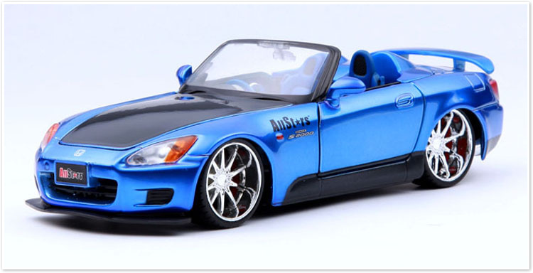 Clear Scale Model 1:24 Car Styling Brinquedos For S2000 Blue Alloy Car Model Best Decoration(China (Mainland))