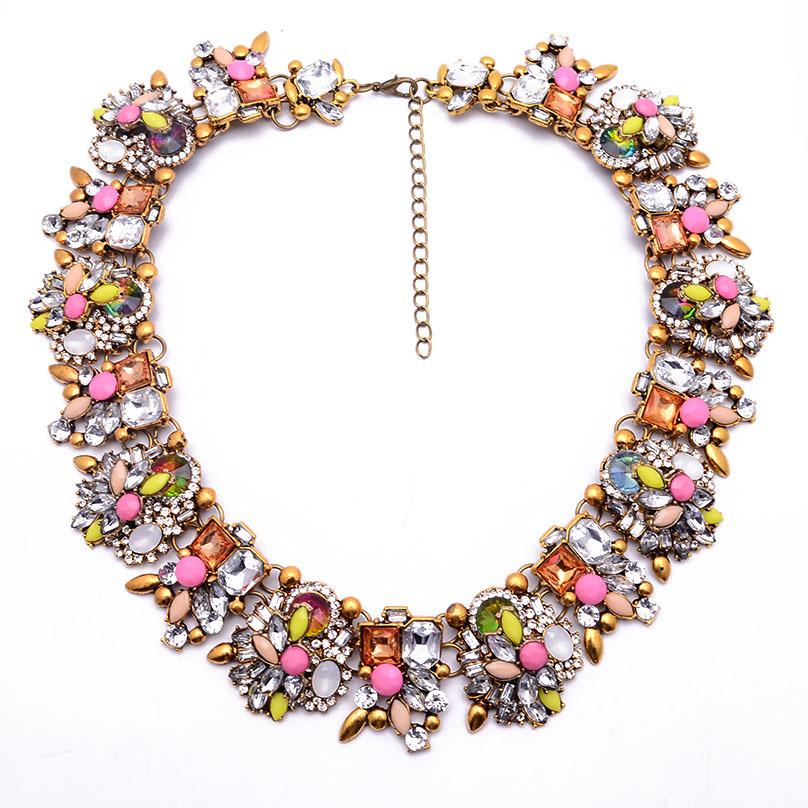Здесь можно купить  N00390 Wholesale 12 pcs necklaces & pendants Collar Vintage Rhinestone Chunky Choker Statement Necklace  Ювелирные изделия и часы