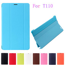 High Quality 1:1 Business Ultra Slim Thin PU Leather Smart Case BOOK Cover For Samsung Galaxy Tab 3 Lite 7.0 T110 T111