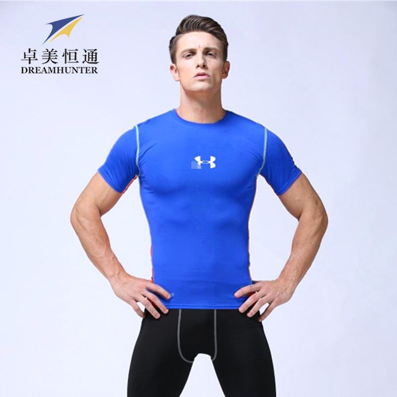 Quick dry Mens Basketball Football Jerseys Fitness Compression Gym Training Bodybuilding Por T Shirts Men Sportswear(China (Mainland))
