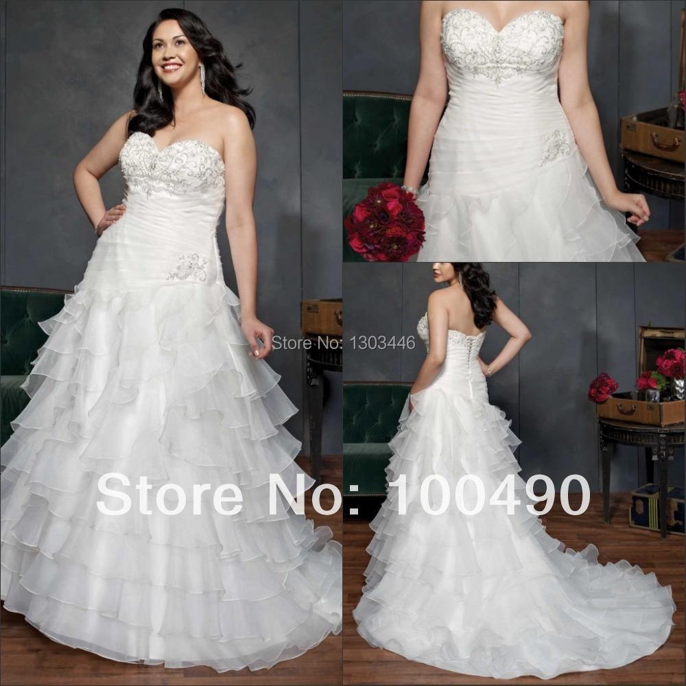 2015a line long plus size wedding dresses pure handwork for Wedding dress beading patterns