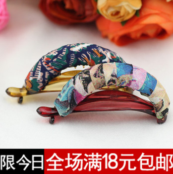 Hairpin banana clip accessories hair accessory hair accessory cloth gripper fabric hairpin wafer horseshoers buckle
