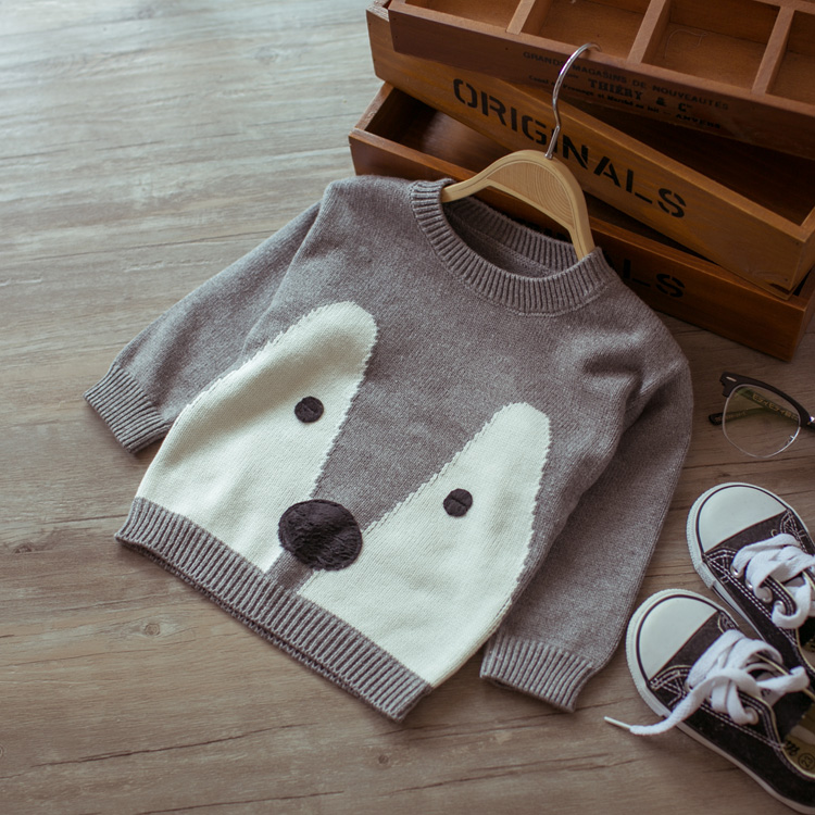 Hot 2016 spring and autumn infant baby cartoon sweater kids cute sweater knitted sweaters for children(China (Mainland))