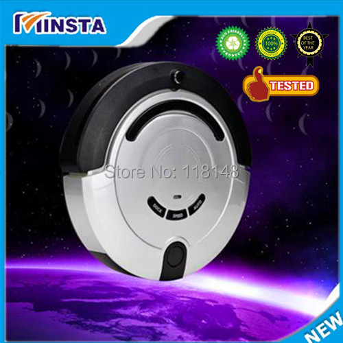 Free shipping-2014 new arrival upgrade full automatic mini vacuum cleaner robo(China (Mainland))