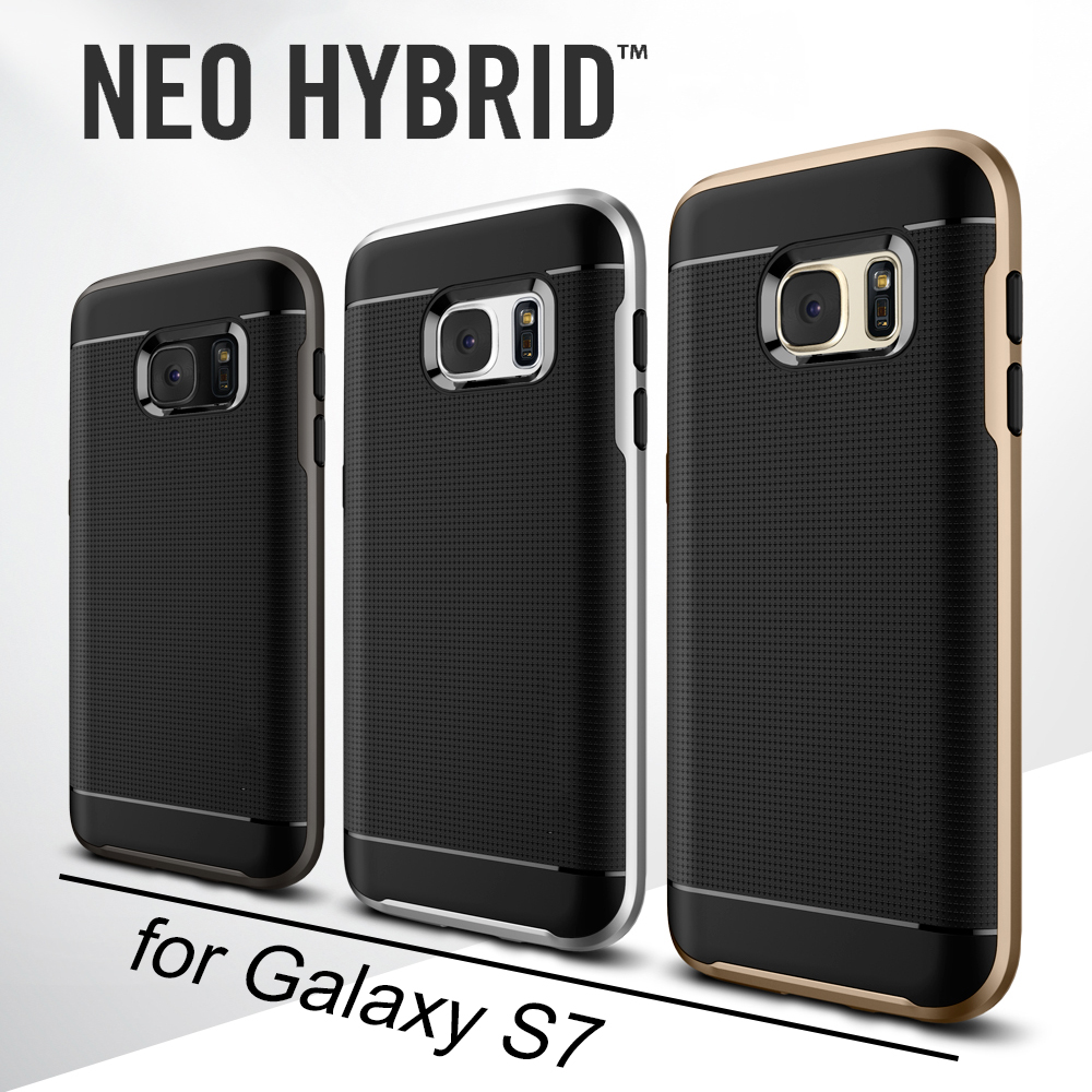 100% Original SGP Neo Hybrid Case for Samsung Galaxy S7 Military Grade Protection Shockproof Phone Cases with Retail Package(China (Mainland))