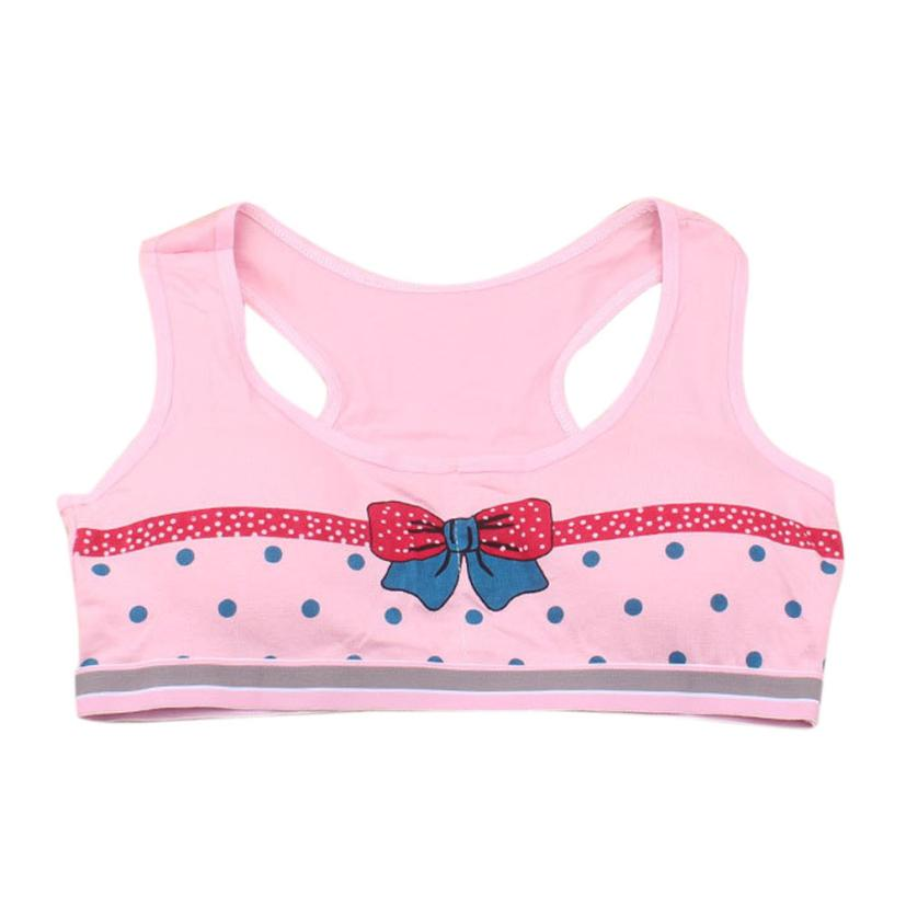 Sexy New Lovely Girls Printing Underwear Bra Vest Children Underclothes Sport Undies Jun16(China (Mainland))