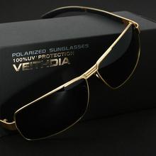Caliente venta nueva Fashioh UV400 hombres de polarizadas Veithdia gafas de sol de la marca de conducción Aviator espejos Eyewear hombres gafas para la conducción