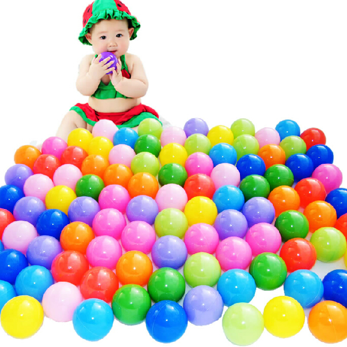 10pcs Colorful Soft Plastic Toy Balls Play Pit balls Water Pool Ocean Wave Balls Child Play Tents Balls Baby Funny Toys PX40(China (Mainland))