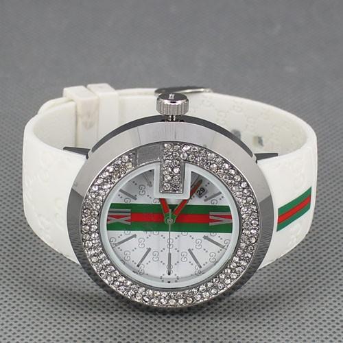 New Fashion Brand Men Women Silicone Strap Diamond Watches Quartz Wrist Watch 3 Colors Free Shipping(China (Mainland))