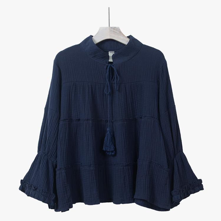 New Korea style 2016 summer women's blouse shirts butterfly sleeve big hems blusa feminina pullover tops camisa female plus size(China (Mainland))