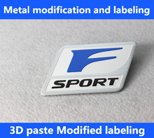 F Sport 3D Metal Badge Decal Rear Trunk Emblem Sticker Car Styling Lexus IS ISF GS RX ES IS250 ES350 LX570 CT200 CT200H - The car is still store
