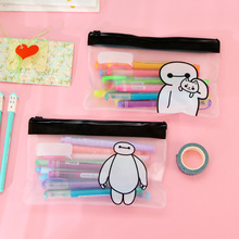 Big Hero 6 Pencil Case For Children Pattern Stationery School Supplies Transparent Pencil Bag Kid Gift New!!(China (Mainland))