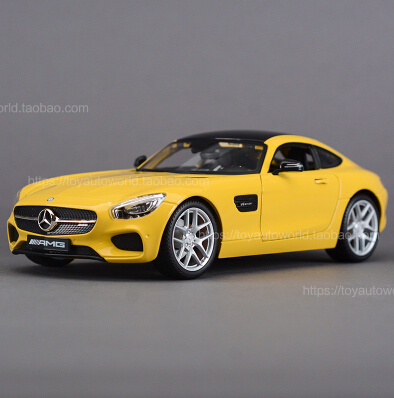 NEW Mercedes-Benz AMG GT SLS gull-wing doors Maisto 1:18 Sports car alloy car model simulation fast and Furious Yellow Benz(China (Mainland))