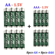 Carbon – zinc battery AAA R03P 1.5 V 45 min + AA R6P 1.5V 105 min batteries for using video game MP3 MP4*16PCS free shipping