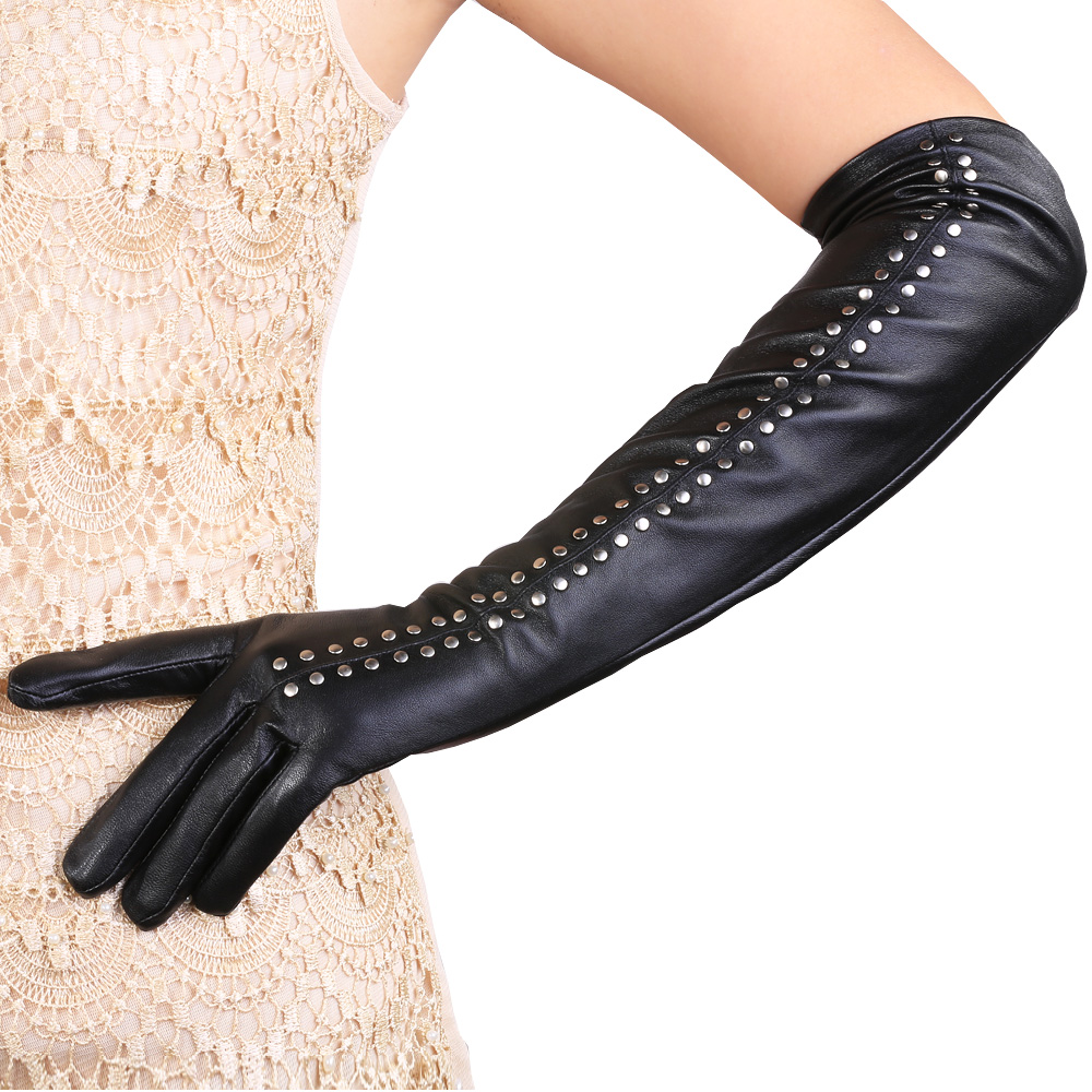 Women that love leather gloves will surely like Valentine's Gift classic sheepskin gloves. They are made of high-quality genuine leather with a V shape cuff and a soft lining. The interior of the gloves is soft and silky while the exterior will protect the hands from cold, water and wind.