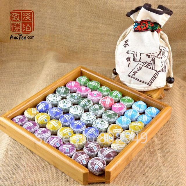 10 kinds of Flavor 50pcs Puer Tea yunnan pu'er Te New quality Puerh tea Chinese tea, pu er Chinese food losing weight