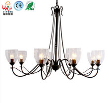 American country Vintage chandelier five head high brightness energy saving glass chandelier iron pipe Restaurant(China (Mainland))