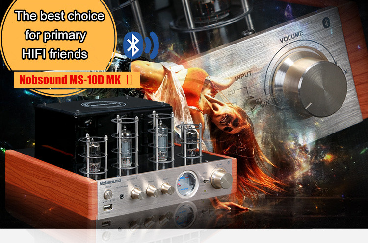 Music hall NEW Nobsound MS-10D MKII tube amplifier with Bluetooth/USB/headphone HIFI Stereo AMP audio amplifier 110-240V