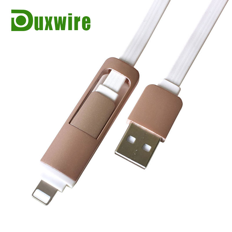 USB Cable Retractable 2 in1 USB 2.0 Charging Data Sync Cable Flat Noodle Cord Design For iPhone 5 iPhone 6 6 Plus Android Phone(China (Mainland))