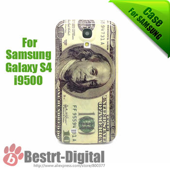 1Pcs Only, Money Design US Dollars, Plastic Skin Cover Case for Samsung Galaxy S4 i9500, Galaxy S IIII case, Back Grip Case