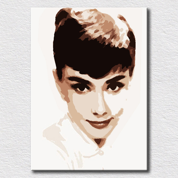 Hot sale painting Audrey Hepburn oil painting on canvas wall art modern pop art for bedroom decoration(China (Mainland))