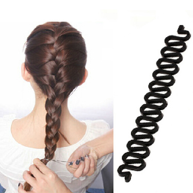 Newly Arrival Fashion Hair Styling Tools Useful Centipede Braid Device Women Hair Accessories Black HDR-0180(China (Mainland))