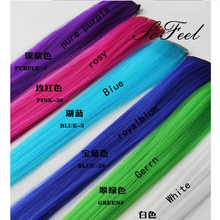 Sofeel goods in stock  Hair Clips on the Hairpiece Party Highlights Punk Hair Pieces hair extension free shipping