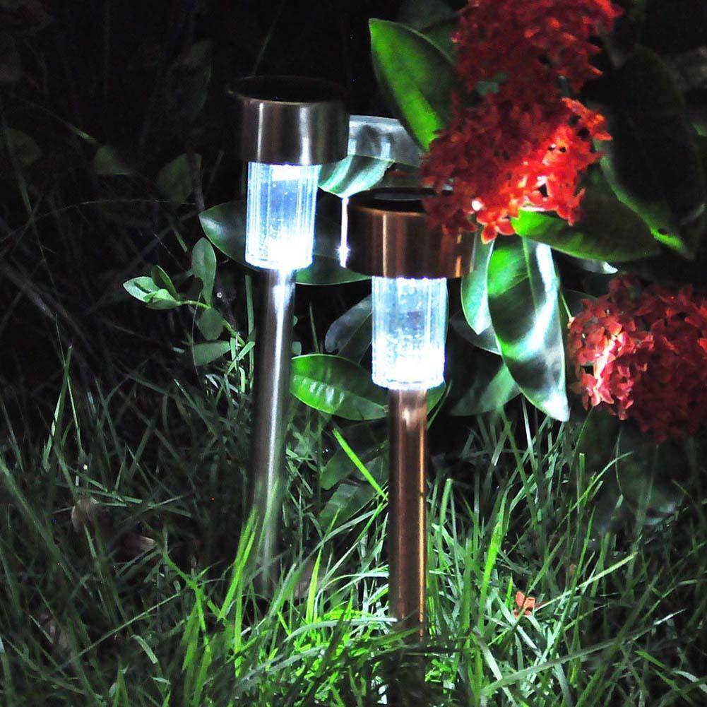 Outdoor Led Antique Solar Landscape Garden Path Light Lamp: Garden Outdoor Stainless Steel LED Solar Power Landscape