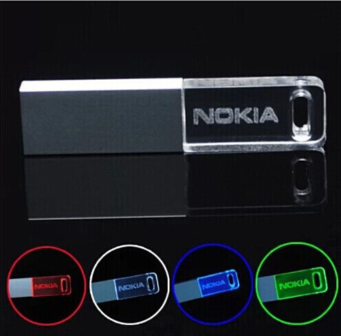2015 new hot Crystal 4GB 8GB 16GB 32GB 64GB USB flash drive Fashion pendrive Rectangle Crystal external hard drive memory stick(China (Mainland))