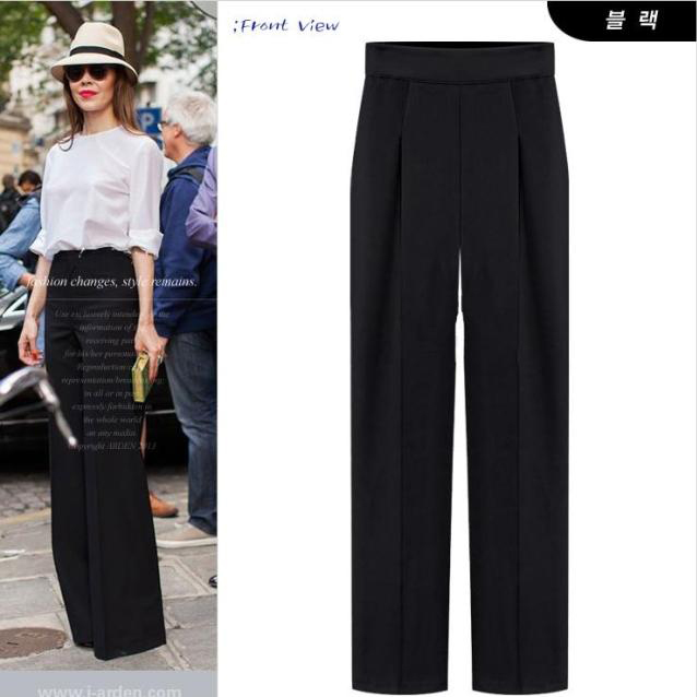 Women Loose Pants 2015 New Women Fashion Wide Leg Pants Fashion High Waist Pants Candy Color ...