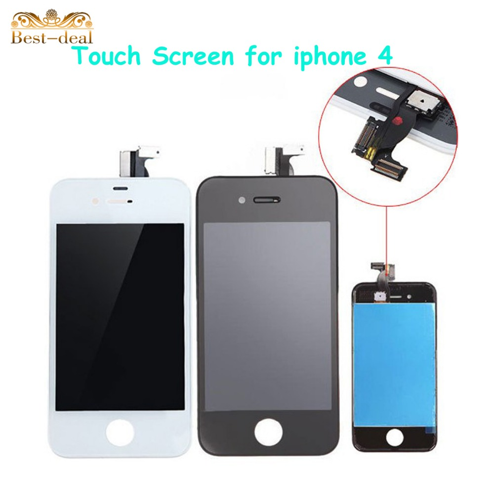 100% Guarantee AAA High Quality Replacement LCD Display Touch Screen for iphone 4G 4 Digitizer Part Assembly for iPhone4(China (Mainland))