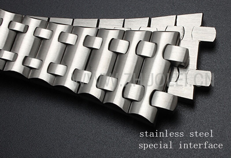28 мм высокое качество розового золота импортированы из нержавеющей стали ремешок для часов браслет для мужчин AP часы с бабочкой пряжкой ремешок