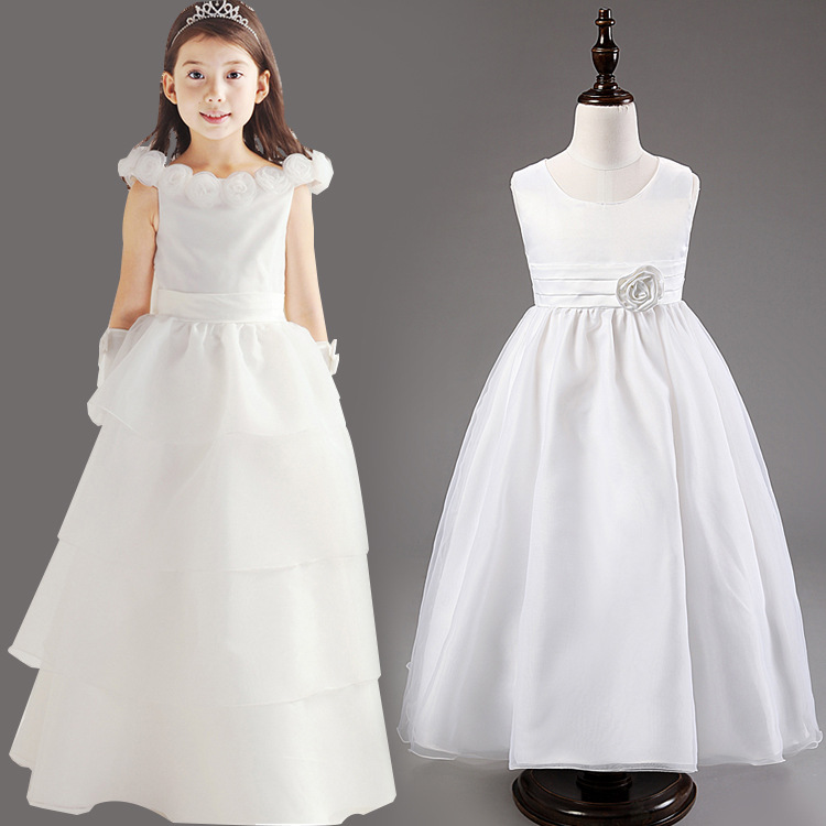 High Quality Flower Girl Dresses Princess Children Toddler Clothing Kid's Party Long Dress Baby Girls Clothes Hot Sale(China (Mainland))