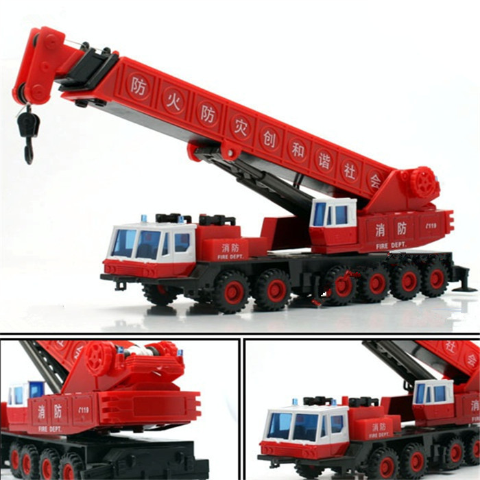 Free shipping 1:60 Exquisite alloy can telescopic crane toys car model(China (Mainland))