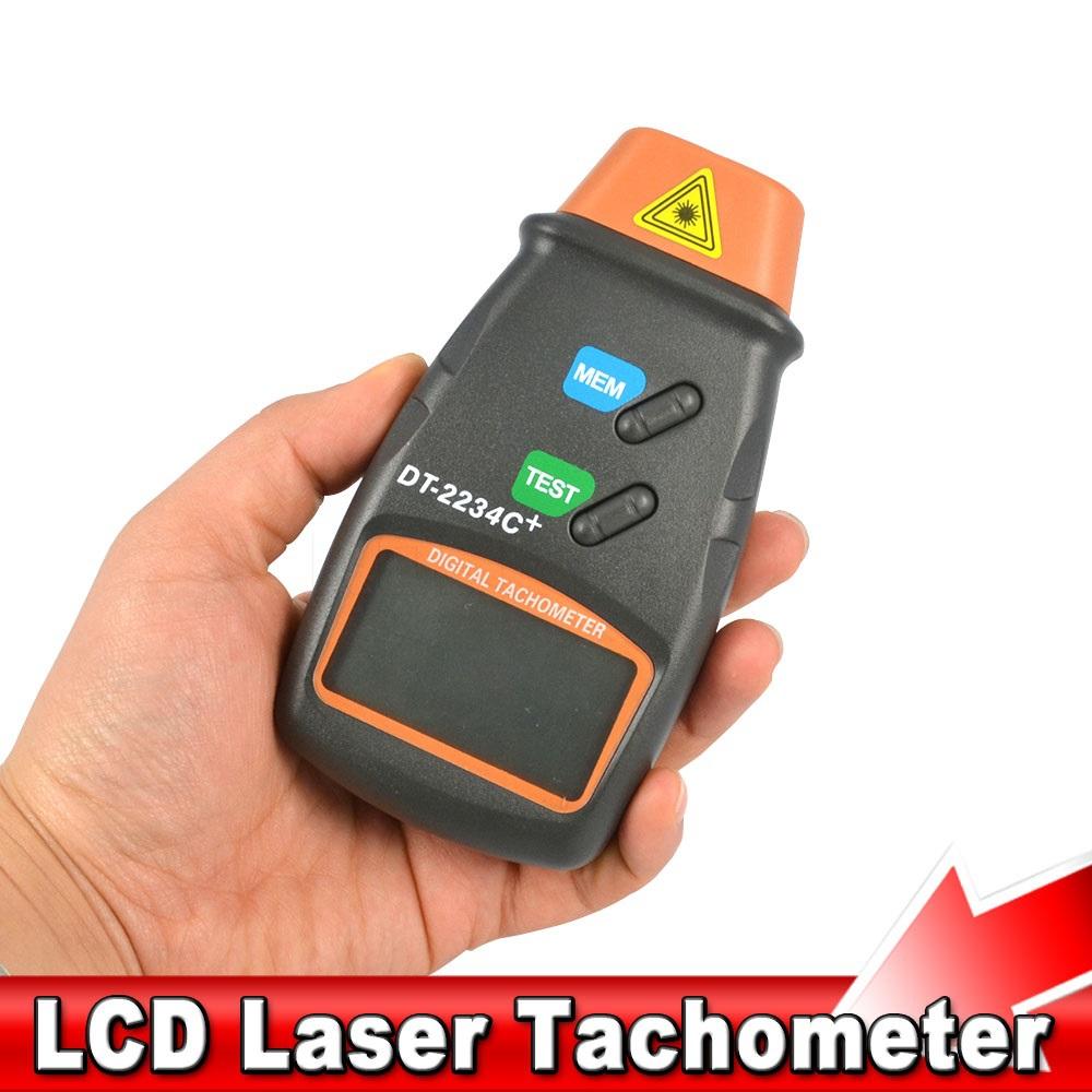 Portable Non contact Reflective Mark Microcomputer Digital Laser Photo Tachometer Range 2.5 to 99.999 RPM Tester(China (Mainland))