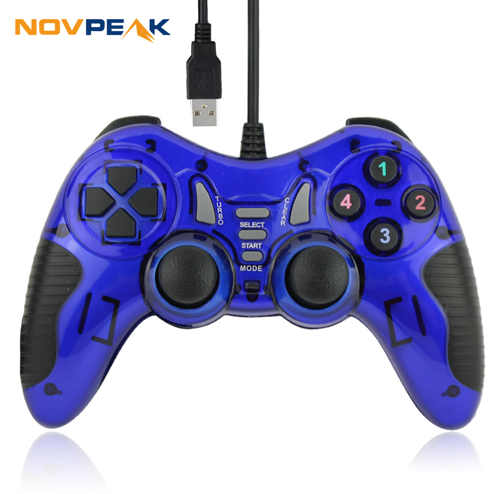2016 New Arrival Wired USB PC Gamepad Game Controller joystick 12 keys for pc laptop computer support win98/2000/xp/7/8/10(China (Mainland))