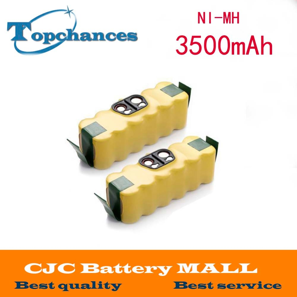 2x 3.5Ah 14.4V NIMH Battery For iRobot Roomba 530 510 500 600 700 Vacuum Cleaner(China (Mainland))