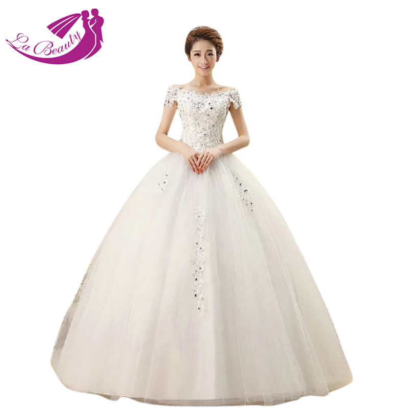 Ball Gown Wedding Dresses With Short Sleeves : Fashionable wedding dress ball gown bridal floor