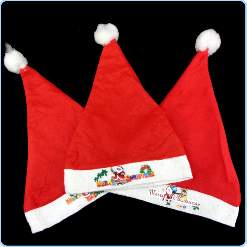 Chirstmas Santa Claus Hats Kids Children Hat Caps Costume Christmas Decoration New Year Gifts TB Sale(China (Mainland))