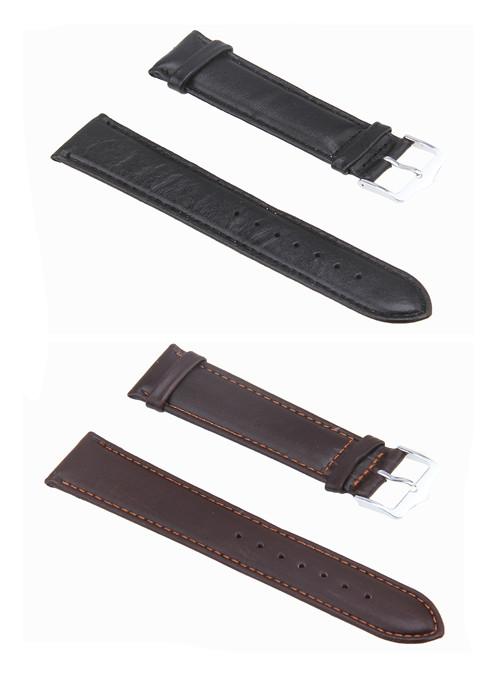 Гаджет  2016 Men Casual Sport Watch Band Fashion Dark Brown Black Leather Watch Band Strap 14/16/18/20/22MM correas para reloj None Часы